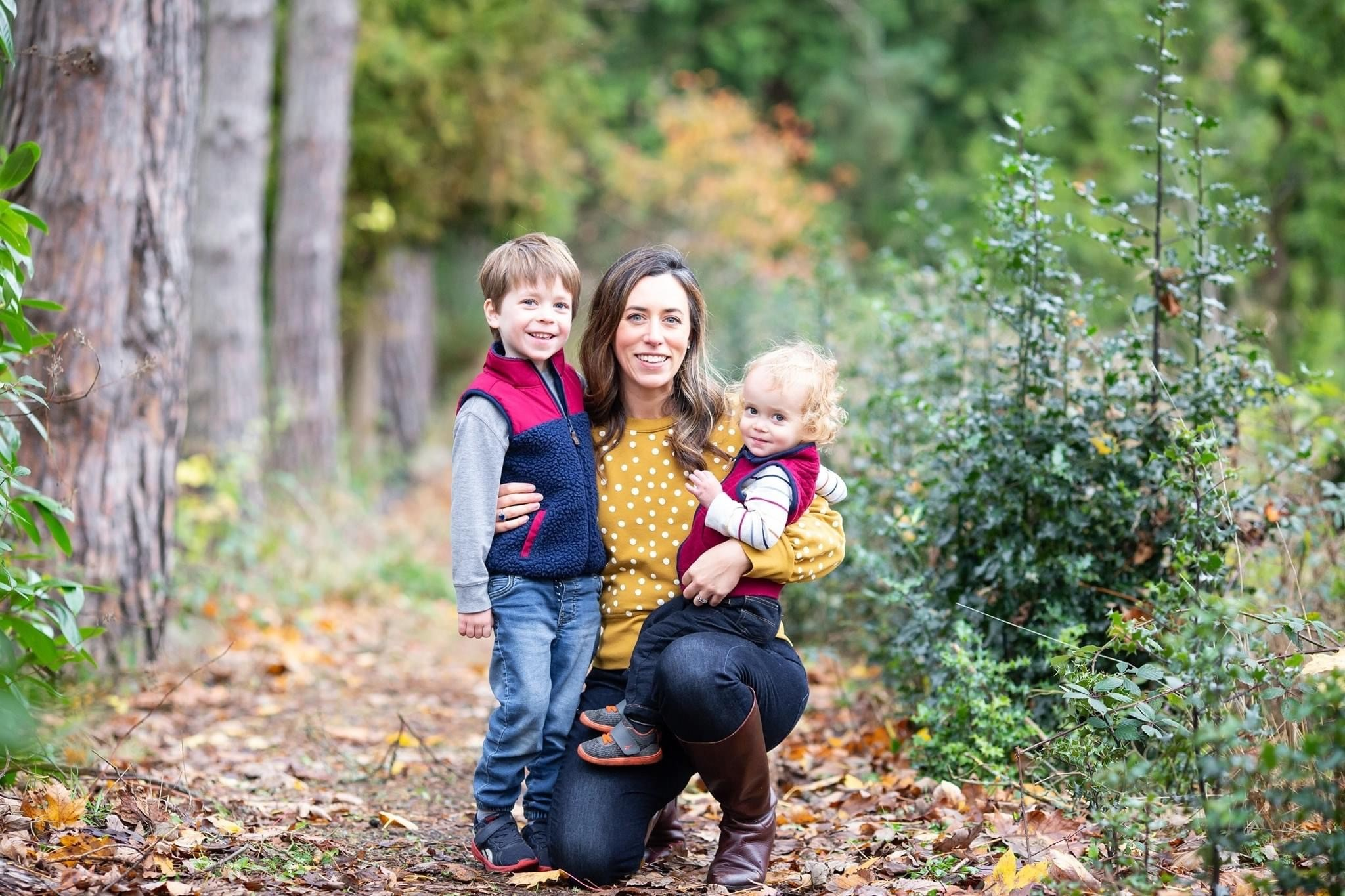 Jenna with her two kids