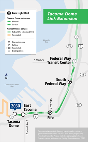 tacoma-dome-link-extension-project-map