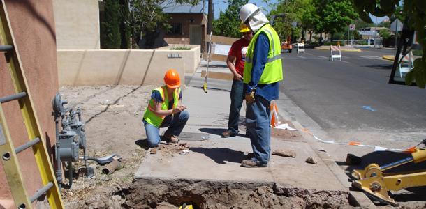 New Mexico Gas Company Gas Line Replacement   Parametrix